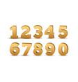 Gold number luxury set metal golden royal