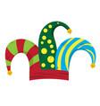 harlequin hat image vector image