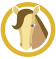 Horses head in circle vector image