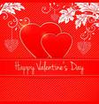 invitation card happy valentines day heart vector image