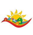 logo country house vector image