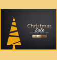 merry christmas sale discount offer greeting card vector image vector image