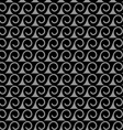 Monochrome seamless pattern with stylized waves vector image vector image