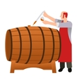 Moonshine and whiskey Oak barrel vector image vector image