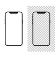new version of black slim smartphone with blank vector image vector image