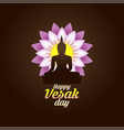 of happy vesak day or buddha purnima background vector image vector image