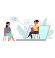 online therapist internet communication vector image vector image