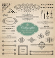 page decoration and calligraphic design elements vector image vector image