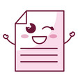 paper document kawaii character vector image vector image