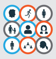 people icons set collection of male gentleman vector image vector image
