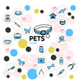 pets line icons collection vector image vector image