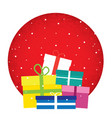 present theme flat style colorful icon vector image