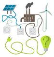 renewable energy sources choosing concept vector image vector image