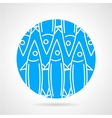 Sea fish blue round icon vector image vector image