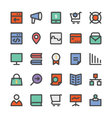 SEO and Marketing Icons 7 vector image vector image