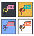 set of unusual look icon of pinterest on vector image vector image