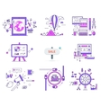 Set of Web Icons Sign Symbols in Flat Style vector image