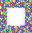 Shiny balls frame vector image