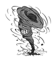smiling hurricane cartoon vector image vector image