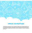 space concept banner in line style with place for vector image vector image