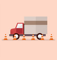truck with traffic cones vector image