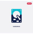 two color harddrive icon from hardware concept vector image vector image