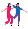 two women friends cartoon vector image vector image