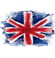 united kingdom flag painted with a brush vector image