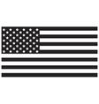 USA Flag Black vector image vector image