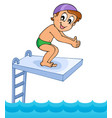 water sport theme image 8 vector image