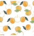 watercolor orange fruit seamless pattern vector image vector image