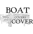 why pick a lowe boat cover text word cloud concept vector image vector image