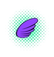 Wing icon pop-art style vector image