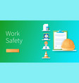 work safety concept in 3d style vector image vector image