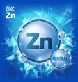 zn zinc mineral blue pill icon vitamin vector image vector image