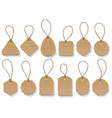 brown paper blank clothing vintage tags vector image