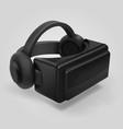 virtual reality 3d futuristic glasses display vr vector image
