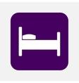 bed icon vector image