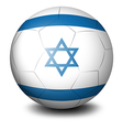A soccer ball with the flag of Israel vector image