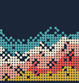 abstract vintage retro wave pattern background vector image vector image