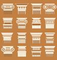 ancient greek roma column capitals vector image