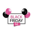 black friday sale tag with purple bubble vector image