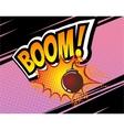 Boom Retro Comic Speech Bubble Cartoon