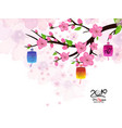 chinese new year card with plum blossom and vector image vector image