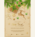 christmas and new year poster vector image vector image