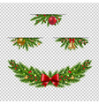 christmas garland collection transparent vector image vector image