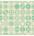 Circle seamless pattern vector image