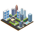 City landscape isometric view