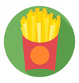 Digital potatoe french fries chips vector image