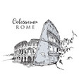drawing sketch colosseum vector image